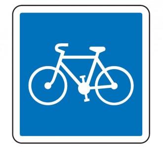 Panneau d'indication d'une piste ou bande cyclable C113 - Devis sur Techni-Contact.com - 1