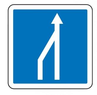 Panneau d'indication d'une réduction du nombre de voies C28 - Devis sur Techni-Contact.com - 1