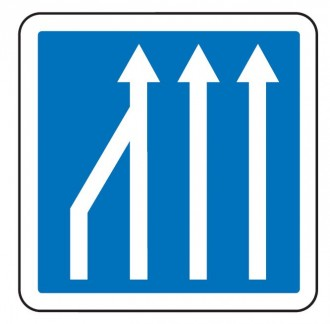 Panneau d'indication d'une réduction du nombre de voies C28 - Devis sur Techni-Contact.com - 2