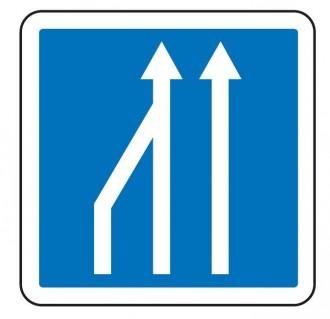 Panneau d'indication d'une réduction du nombre de voies C28 - Devis sur Techni-Contact.com - 3