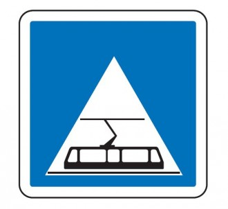 Panneau d'indication d'une traversée de tramway C20c - Devis sur Techni-Contact.com - 1