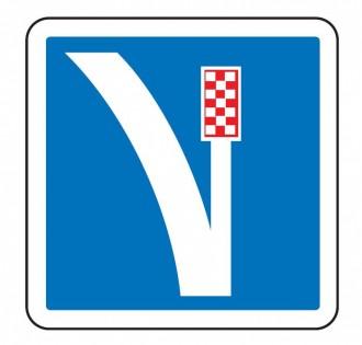 Panneau d'indication d'une voie de détresse à droite C26a - Devis sur Techni-Contact.com - 1