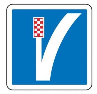 Panneau d'indication d'une voie de détresse à gauche C26b - Devis sur Techni-Contact.com - 1