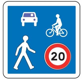 Panneau d'indication d'une zone de rencontre B52 - Devis sur Techni-Contact.com - 1