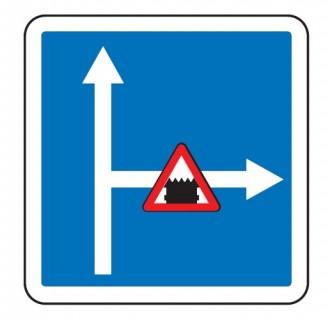 Panneau d'indication de conditions de circulation sur une route embranchée C24c - Devis sur Techni-Contact.com - 1