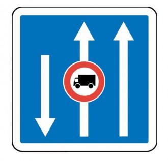 Panneau d'indication de conditions particulières de circulation C24a - Devis sur Techni-Contact.com - 2