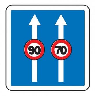 Panneau d'indication de conditions particulières de circulation C24a - Devis sur Techni-Contact.com - 3