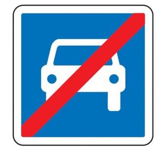 Panneau d'indication de la fin d'une section de route à accès réglementé C108 - Devis sur Techni-Contact.com - 1