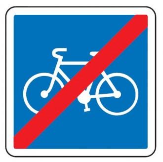 Panneau d'indication de la fin d'une voie conseillée et réservée aux cyclistes C114 - Devis sur Techni-Contact.com - 1