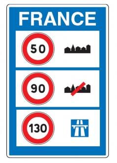 Panneau d'indication de limitations générales de vitesse C25a - Devis sur Techni-Contact.com - 1