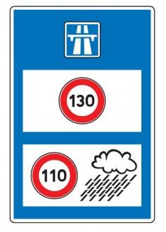 Panneau d'indication de limitations générales de vitesse en entrée de territoire C25b - Devis sur Techni-Contact.com - 1