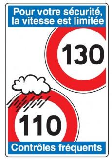 Panneau d'indication de limitations générales de vitesse en entrée de territoire C25b - Devis sur Techni-Contact.com - 2