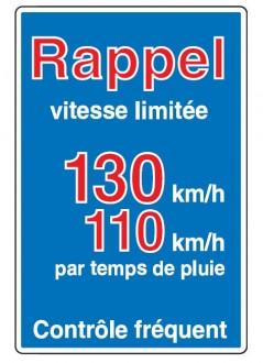 Panneau d'indication de limitations générales de vitesse en entrée de territoire C25b - Devis sur Techni-Contact.com - 3
