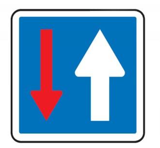 Panneau indication en acier priorité par rapport à la circulation venant en sens inverse CK - Devis sur Techni-Contact.com - 1