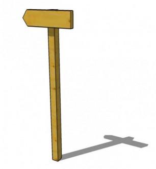 Panneau d'indication en bois - Devis sur Techni-Contact.com - 1