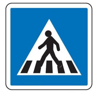Panneau d'indication passage piéton C27 - Devis sur Techni-Contact.com - 1