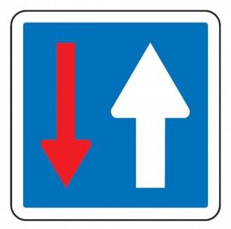 Panneau d'indication priorité par rapport à la circulation venant en sens inverse C18 - Devis sur Techni-Contact.com - 1