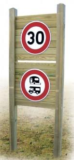 Panneau d'indications routières en bois - Devis sur Techni-Contact.com - 2