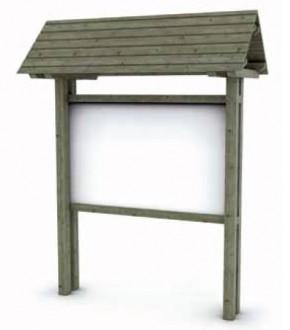 Panneau d'information en bois avec toit H 300 cm - Devis sur Techni-Contact.com - 1