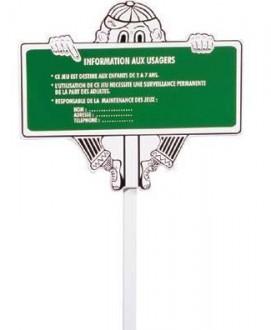 Panneau d'instruction pour aire de jeux - Devis sur Techni-Contact.com - 1