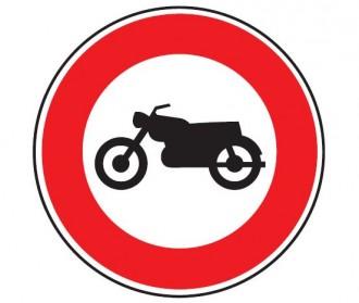 Panneau d'interdiction au motocyclette B9h - Devis sur Techni-Contact.com - 1