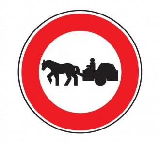 Panneau d'interdiction d'accès aux véhicules à traction animale B9c - Devis sur Techni-Contact.com - 1