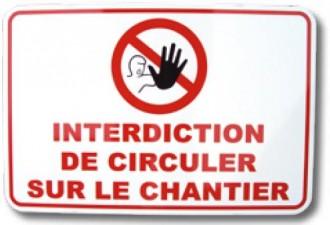 Panneau d'interdiction de circuler - Devis sur Techni-Contact.com - 1