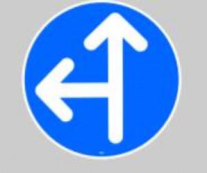 Panneau de direction flèche droite et gauche  - Devis sur Techni-Contact.com - 1