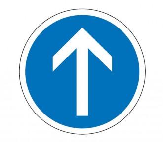 Panneau de signalisation d'obligation de direction B21b - Devis sur Techni-Contact.com - 1