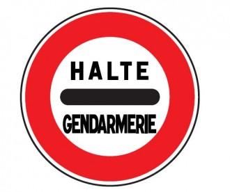 Panneau de signalisation d'un barrage de gendarmerie B5a - Devis sur Techni-Contact.com - 1