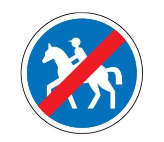 Panneau de signalisation d'un chemin pour cavaliers obligatoire B42 - Devis sur Techni-Contact.com - 1