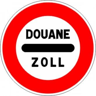 Panneau de signalisation d'un poste de douane B4 - Devis sur Techni-Contact.com - 1