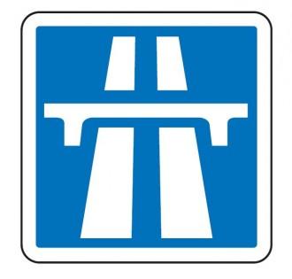 Panneau de signalisation d'une section de route à statut autoroutier C207 - Devis sur Techni-Contact.com - 1