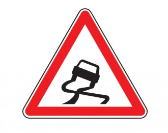 Panneau de signalisation de chaussée glissante A4 - Devis sur Techni-Contact.com - 1