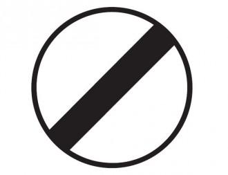 Panneau de signalisation de fin d'interdiction B31 - Devis sur Techni-Contact.com - 1