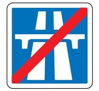 Panneau de signalisation de la fin d'une section de route à statut autoroutier C208 - Devis sur Techni-Contact.com - 1