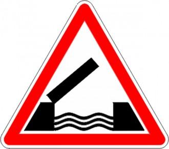 Panneau de signalisation de pont mobile A6 - Devis sur Techni-Contact.com - 1