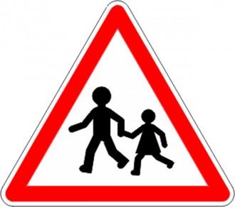Panneau endroit fréquenté par enfants A13a - Devis sur Techni-Contact.com - 1
