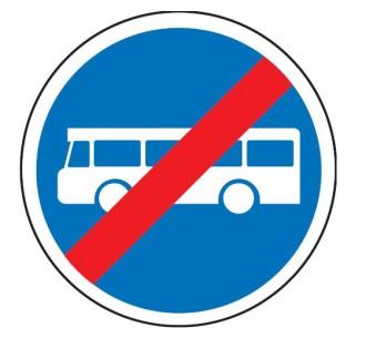 Panneau fin de voie réservée au autobus de transport commun B45a - Devis sur Techni-Contact.com - 1