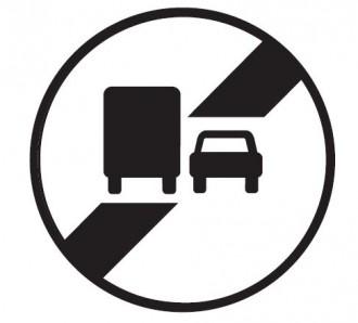 Panneau fin interdiction dépasser poids lourds B34a - Devis sur Techni-Contact.com - 1