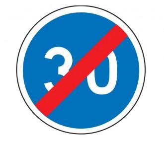 Panneau fin obligation vitesse minimale 30 km/h B43 - Devis sur Techni-Contact.com - 1