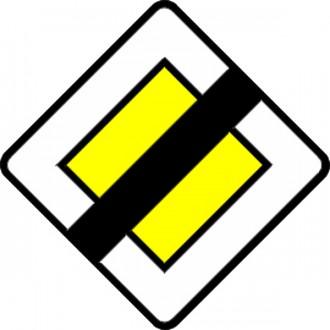 Panneau de fin de route prioritaire en aluminium AB 7 - Devis sur Techni-Contact.com - 1