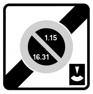Panneau fin zone stationnement unilatéral semi mensuel durée limitée B50e - Devis sur Techni-Contact.com - 1