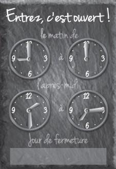 Panneau horaire pour magasin - Devis sur Techni-Contact.com - 1