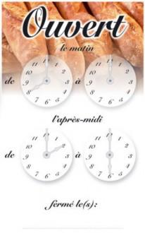 Panneau horaires d'ouverture magasin - Devis sur Techni-Contact.com - 1