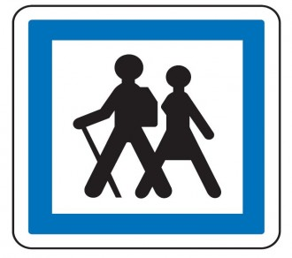 Panneau indication départ d'itinéraire à pied CE6a - Devis sur Techni-Contact.com - 1
