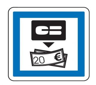 Panneau indication distributeur de billets CE25 - Devis sur Techni-Contact.com - 1