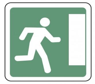 Panneau indication issue de secours droite CE30a - Devis sur Techni-Contact.com - 1