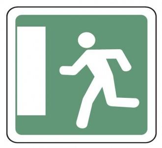Panneau indication issue de secours gauche CE30b - Devis sur Techni-Contact.com - 1