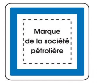 Panneau indication marque pétrolière CE15e - Devis sur Techni-Contact.com - 1